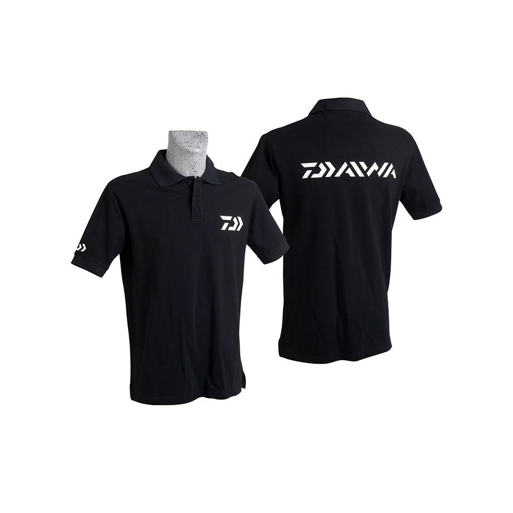 Daiwa Polo Shirt Noir Manches Courtes- Beden l