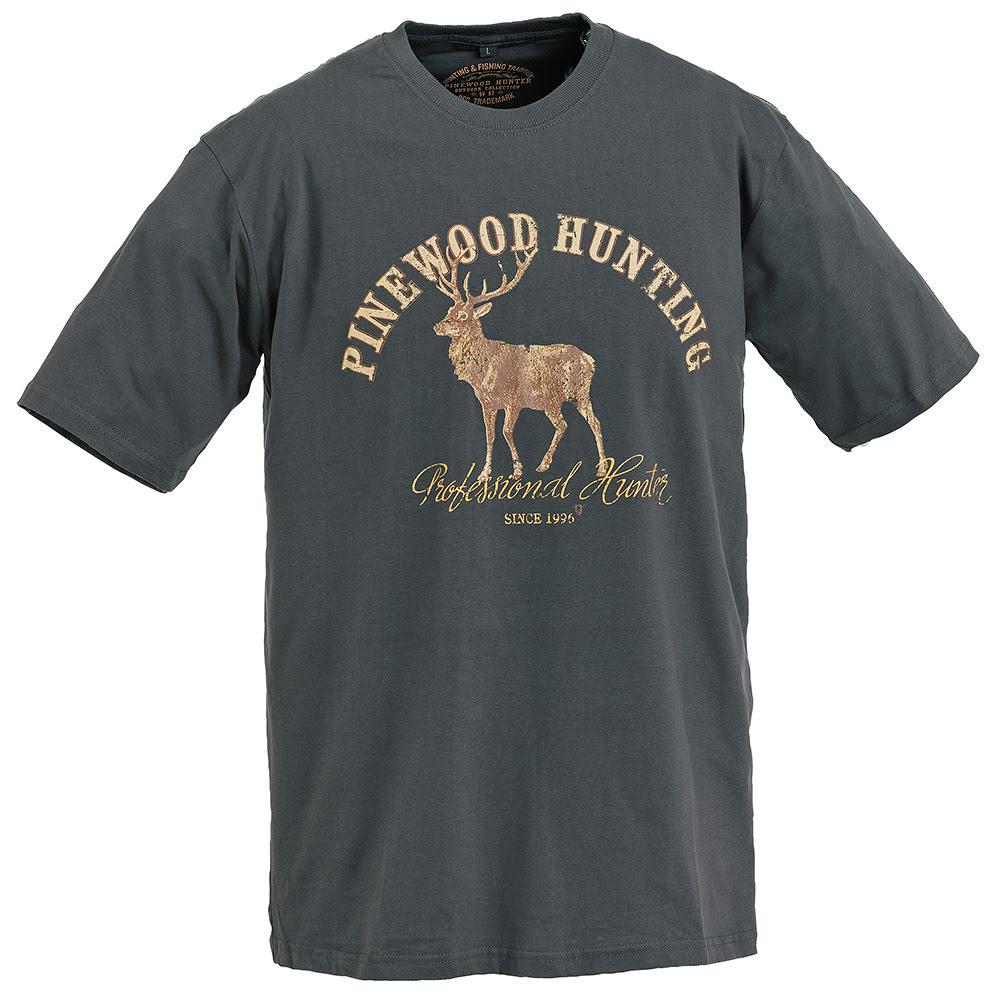 Pinewood 9457 Deer Antrasit T-Shirt- Beden XXL